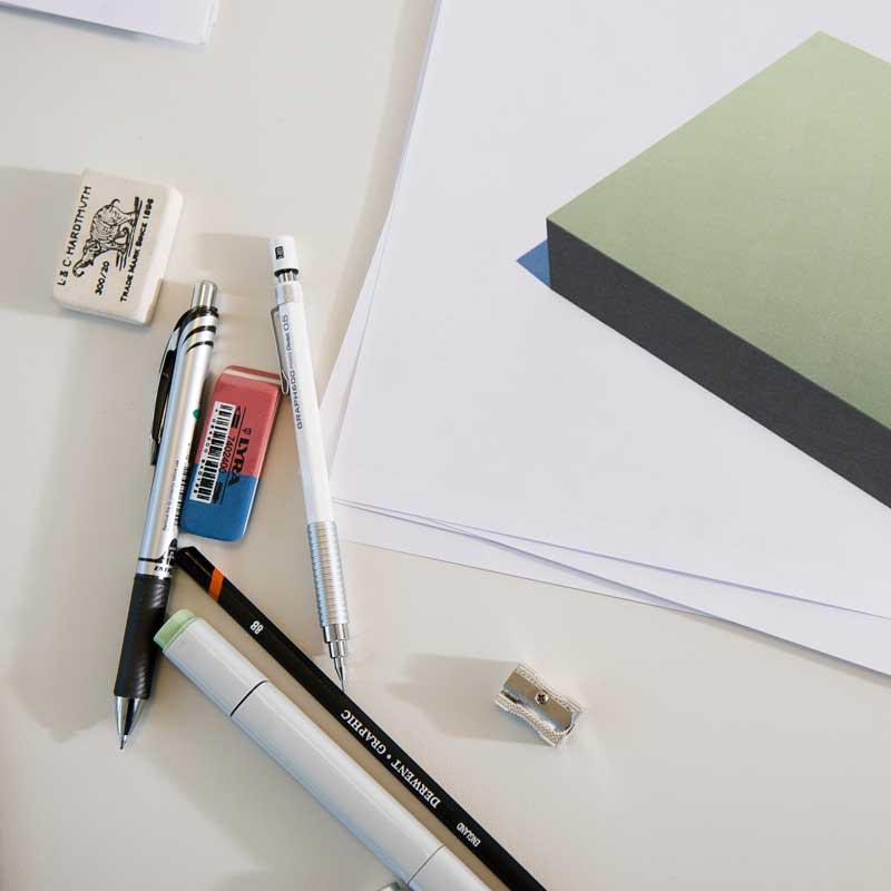 Foto die het proces laat zien hoe een 3D infographic wordt gemaakt.