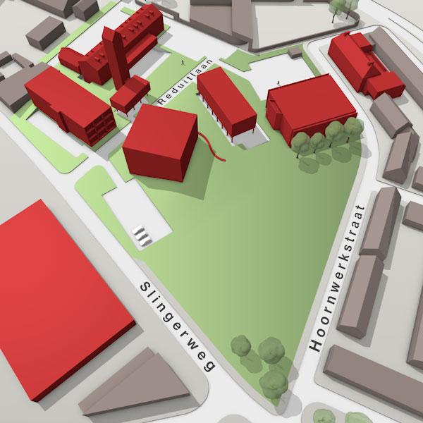 3D kaart van de Tripple O campus in Breda