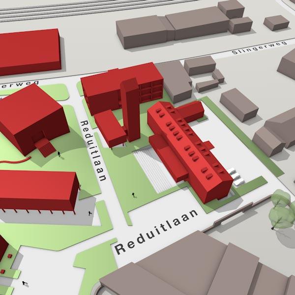 3D map Triple O Campus in Breda