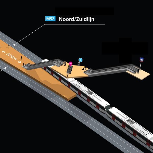 3d wayfinding metro station