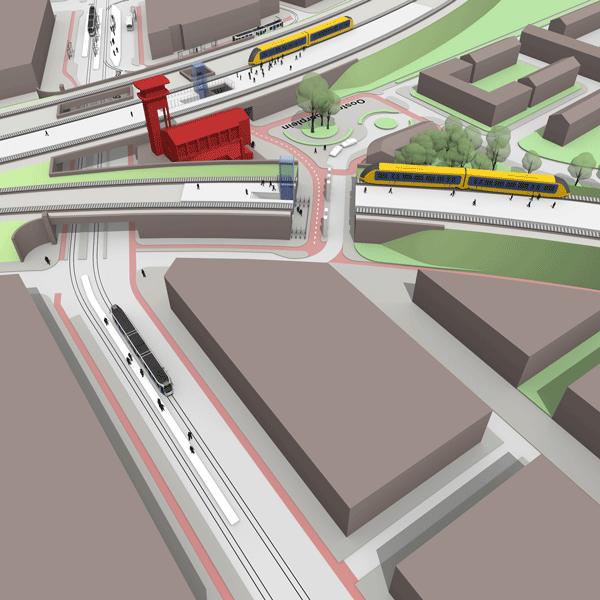 wayfinding Amsterdam station Muiderpoort