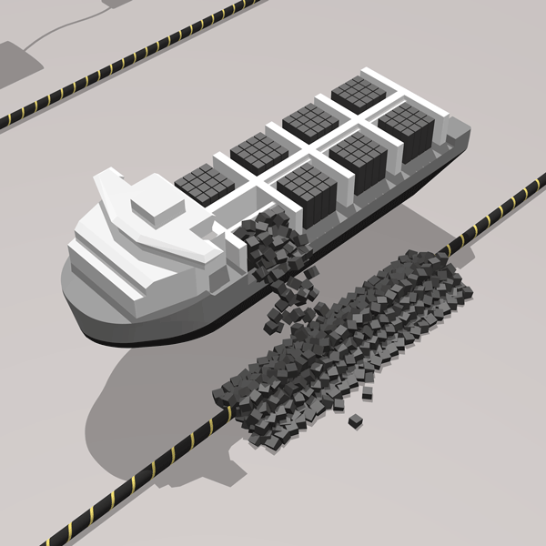 Infographic on a subsea pipeline with a rock dumping vessel